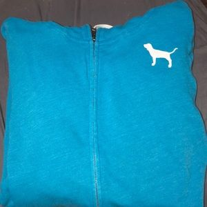 blue - pink victorious secret jacket